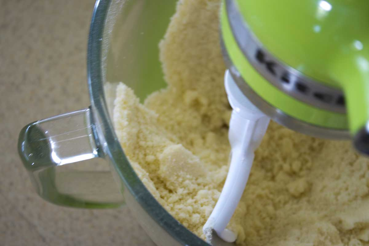 Mixing Dry Ingredients & Butter