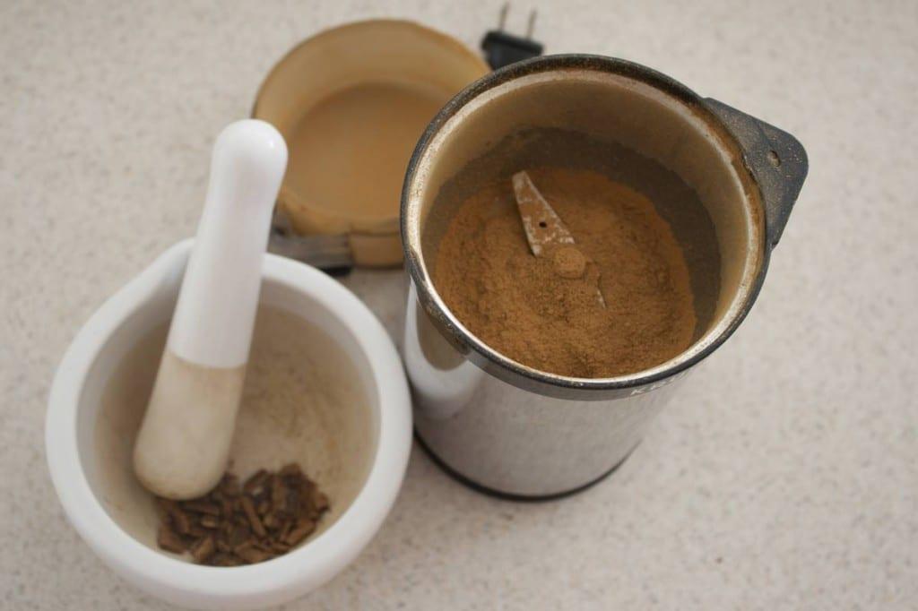Grinding Cinnamon
