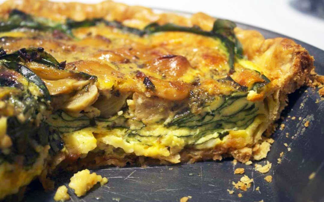 Carmelized Garlic & Spinach Quiche Recipe