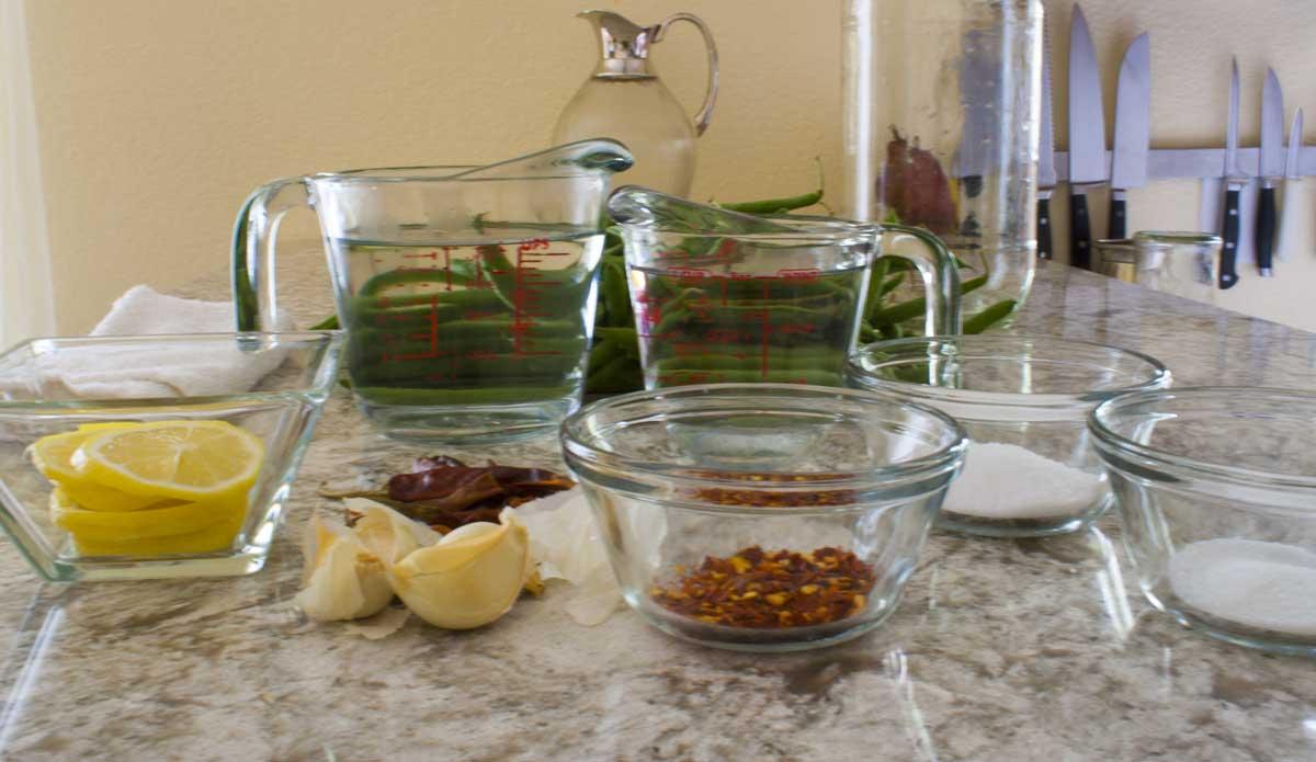 Pickled Green Bean Ingredients