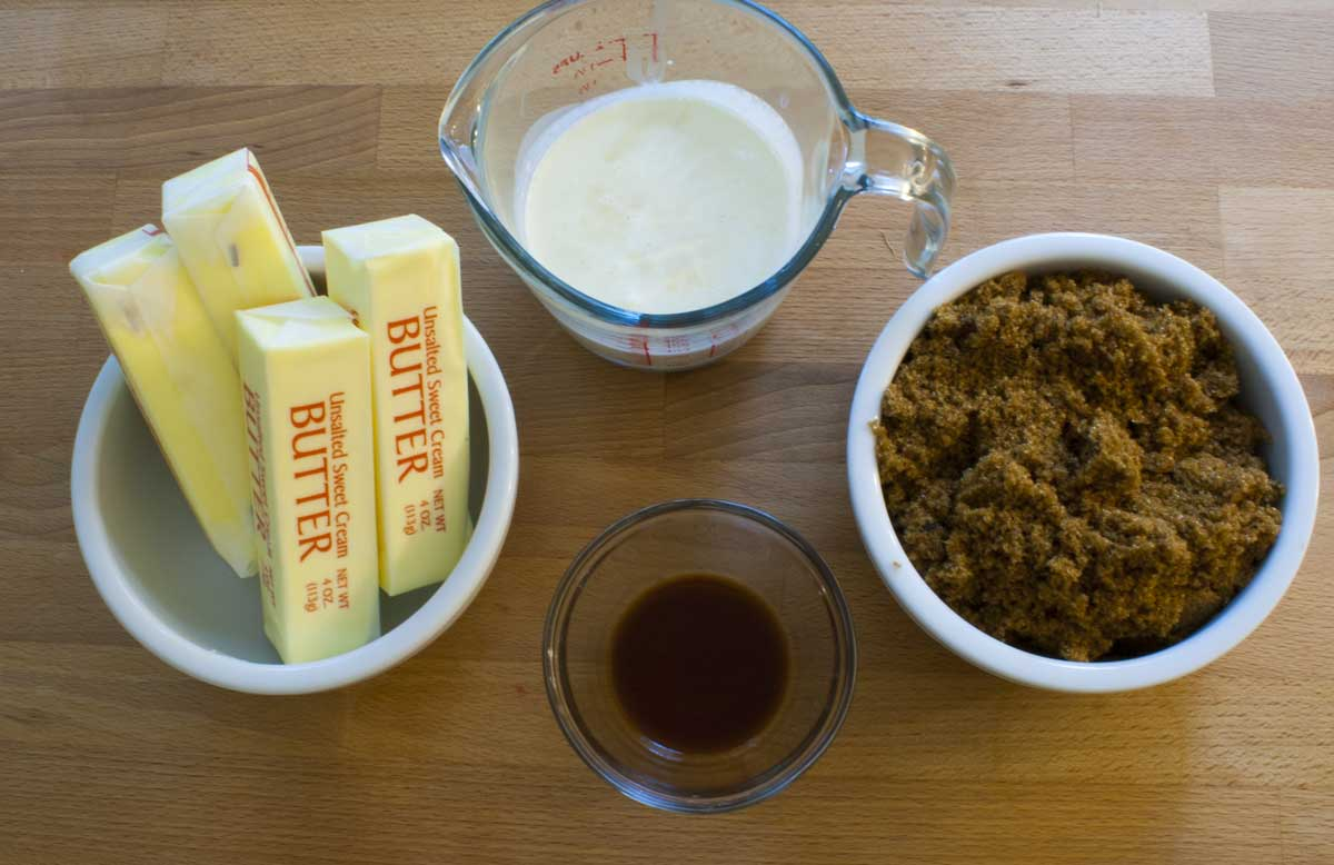 Sticky Toffee Sauce Ingredients